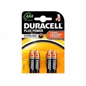 Duracell Batteri Plus Power AAA - 4 stk.