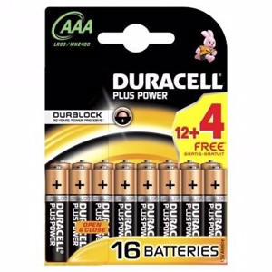 Duracell Batteri Plus Power AAA - 12 stk. + 4 stk.