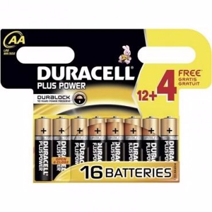Duracell Batteri Plus Power AA - 12 stk.+4 stk.