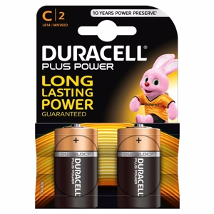 Duracell Batteri Plus Power C - 2 stk.